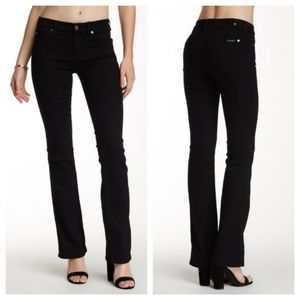 7 For All Mankind Black Skinny Bootcut Jeans